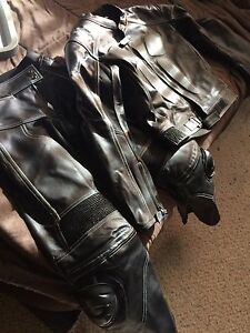 2 piece leather race suit motorcycle, alpine stars boots