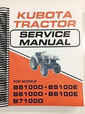 Kubota B6100 B6100d B6100e Tractor Service Manual Repair Manual