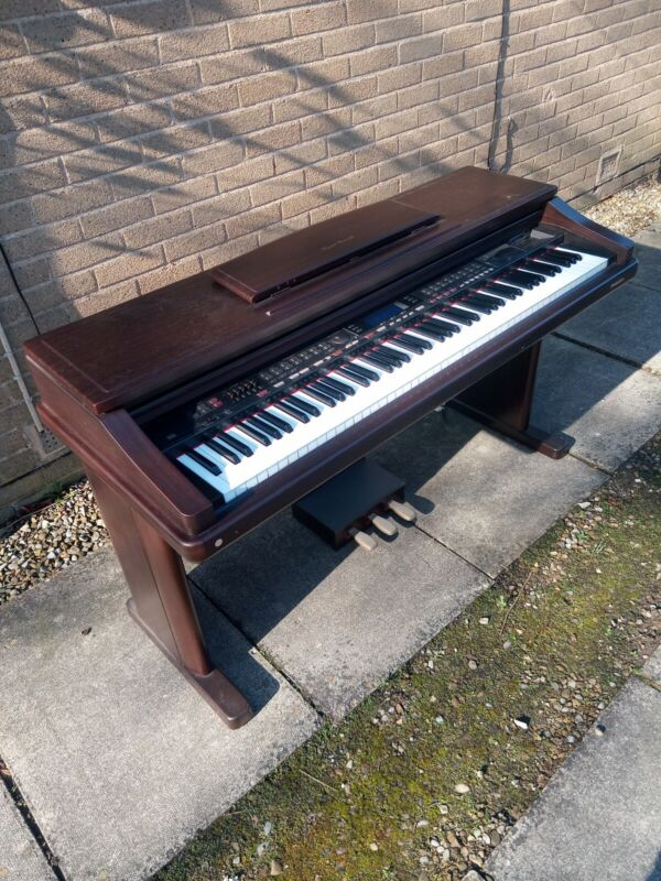 Technics PR307 electric piano, original Technics piano stool and foot stool