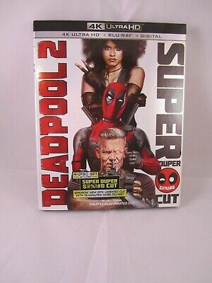 Deadpool 2 Super Duper Cut 4K UHD Blu-ray Marvel slipcover