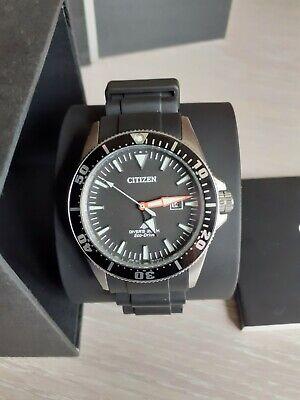 Citizen Promaster Eco-Drive Men's 200M Black Dial Divers Watch BN0100-42E.