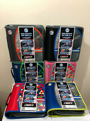 Case It The Mighty Zip Tab 2.0 Binder D-159-p 3 Rings 3 Inch Capacity