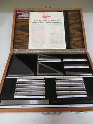 Starrett Ag 18. W Tr - 17 Piece Steel Angle Block Set Grade W Nc51