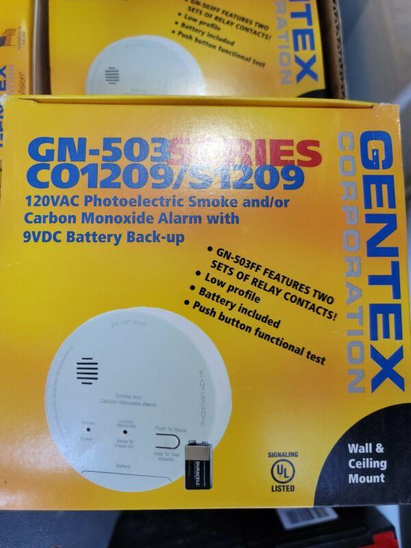 Gentex S1209F Smoke Alarm, 120 VAC, Battery Back up