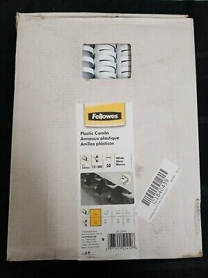 Fellowes Plastic Combs Binding Spines. 50 Pack. Nib.os1