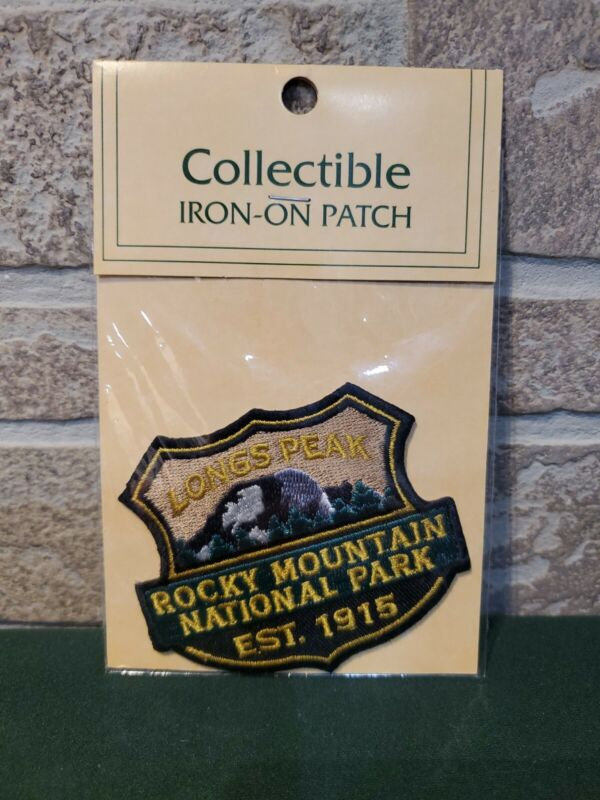 Longs Peak Rocky Mountain National Park Collectible  Iron-on Patch Souvenirs New