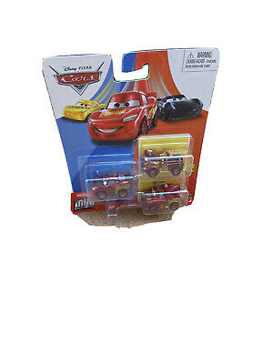 DISNEY PIXAR CARS DIE CAST MINI RACERS RUST-EZE WRAP 3 PACK