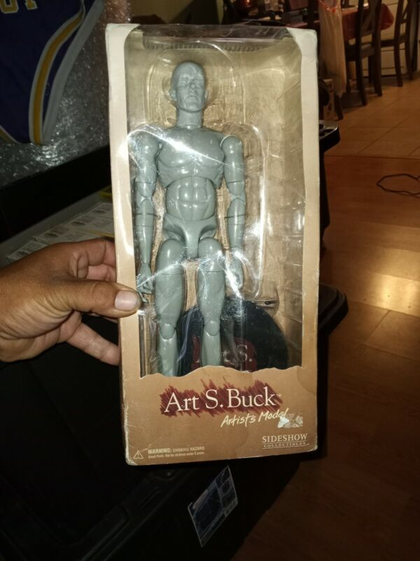 Art S Buck Artists Model Sideshow Figure Drawing Reference Male with Stand