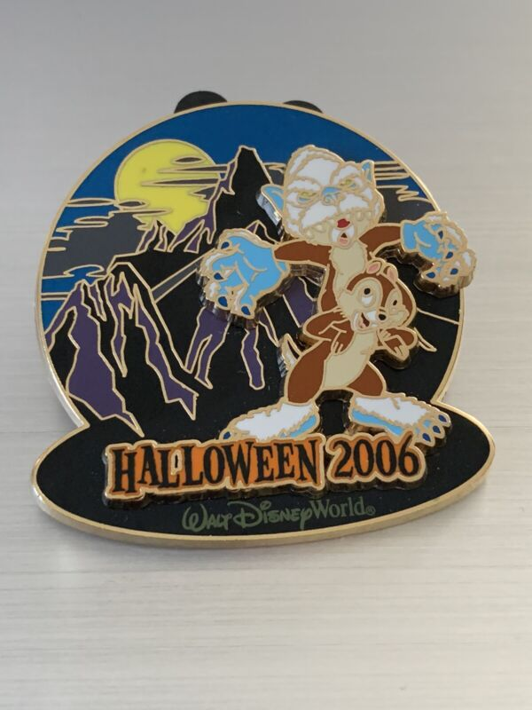 CHIP & DALE EXPEDITION EVEREST HAUNTED PARKS HALLOWEEN LE 2000 DISNEY PIN
