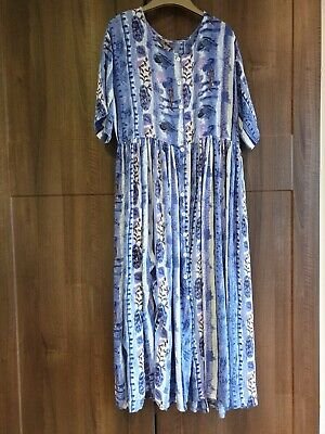 True Vintage Kushi Indian Hippy Dress Sun Med Blues