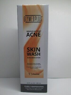 GLYMED PLUS serious action acne skin wash acne medication cleanse 8fl.oz/236ml