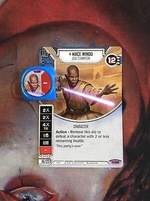 Mace Windu #34 Legendary Star Wars Destiny Empire at War EaW