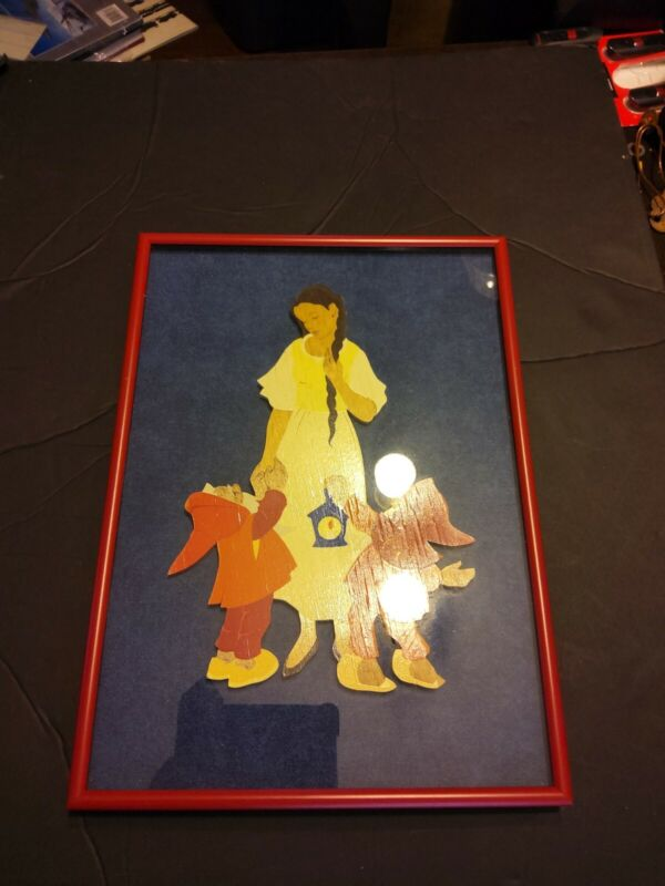 Snow White Woodblock Painting