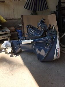 9.5 HP Evinrude Outboard Motor with gas tank