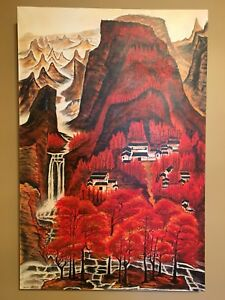 Mountain in red