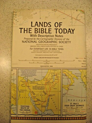 National Geographic Society Lands of the Bible Today Washington : 1968