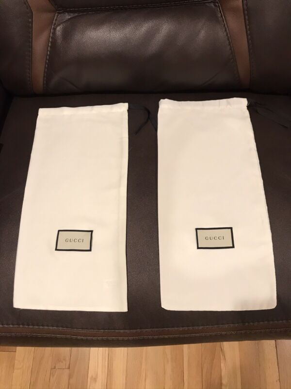 New Drawstring Satin Gucci Dustbags Shoe /Purse Bags (17x8.5) Pair Of 2 For $29