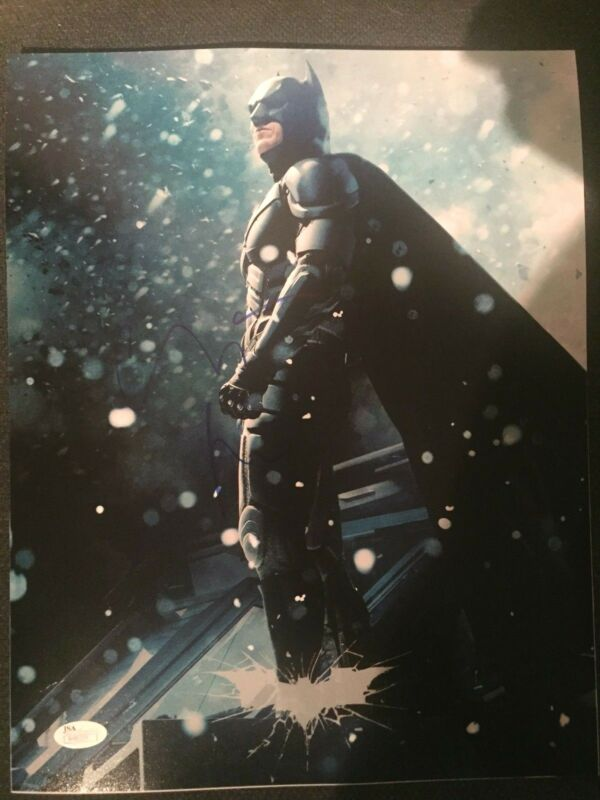 Batman Dark Knight Christian Bale Autographed Signed 11x14 Photo JSA COA