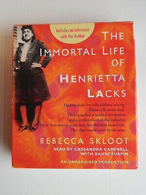 The Immortal Life of Henrietta Lacks by Rebecca Skloot Audio Book CD