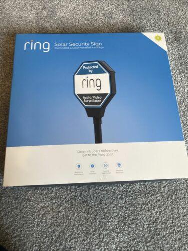 Ring Solar Security Sign Illuminated & Solar Powered Intruder Deterrent NEW