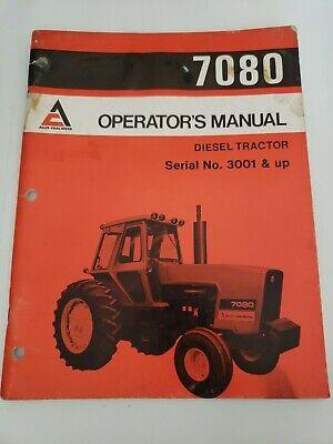 Allis Chalmers 7080 Diesel Tractor Operators Owners Manual 3001 Up