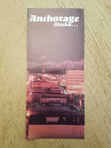 VINTAGE 1978 Anchorage Alaska Tourist Brochure Convention Visitors Bureau AK