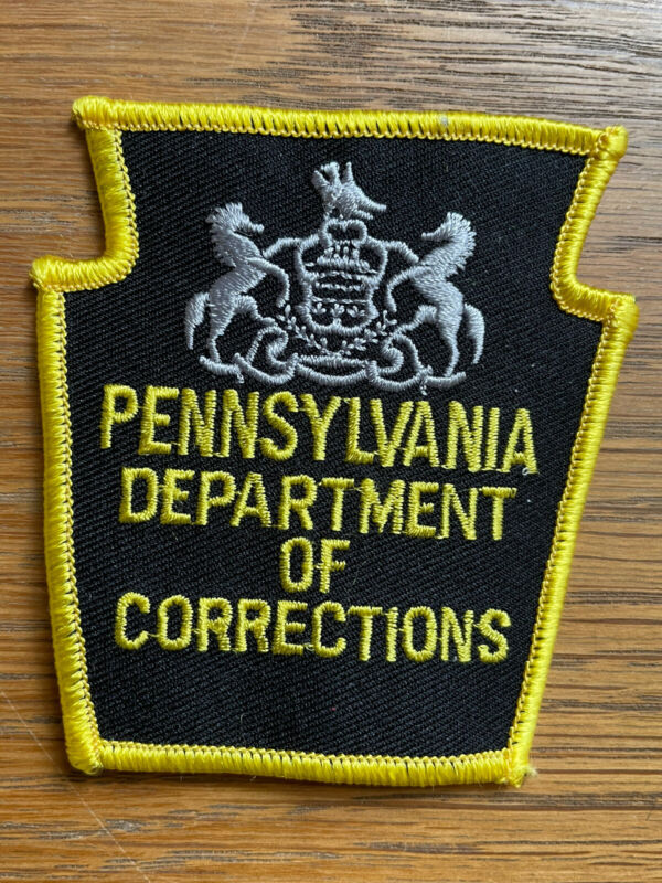 Pennsylvania Department of Corrections Police Shoulder Patch Black/Yellow