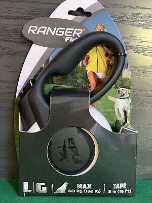 Retractable Dog Leash Heavy Duty Large Dogs132lbs Grip Handle 16ft NylonTape LED (Handle Retractable Dog Leash)