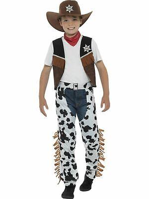 Boys Cowboy Costume kids Fancy Dress Outfit Western Childs Dressup - Kids Dress Up Cowboy Kostüm