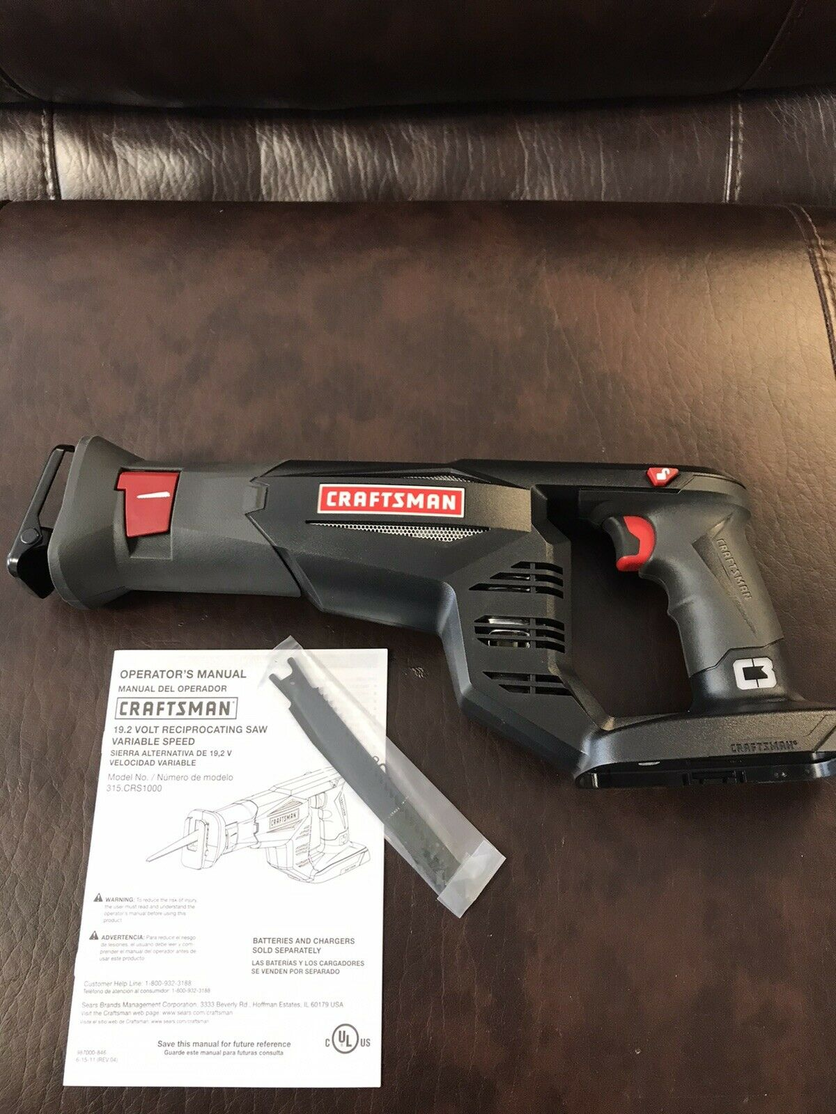 NEW Craftsman C3 19.2v Volt Reciprocating Saw Varible Speed