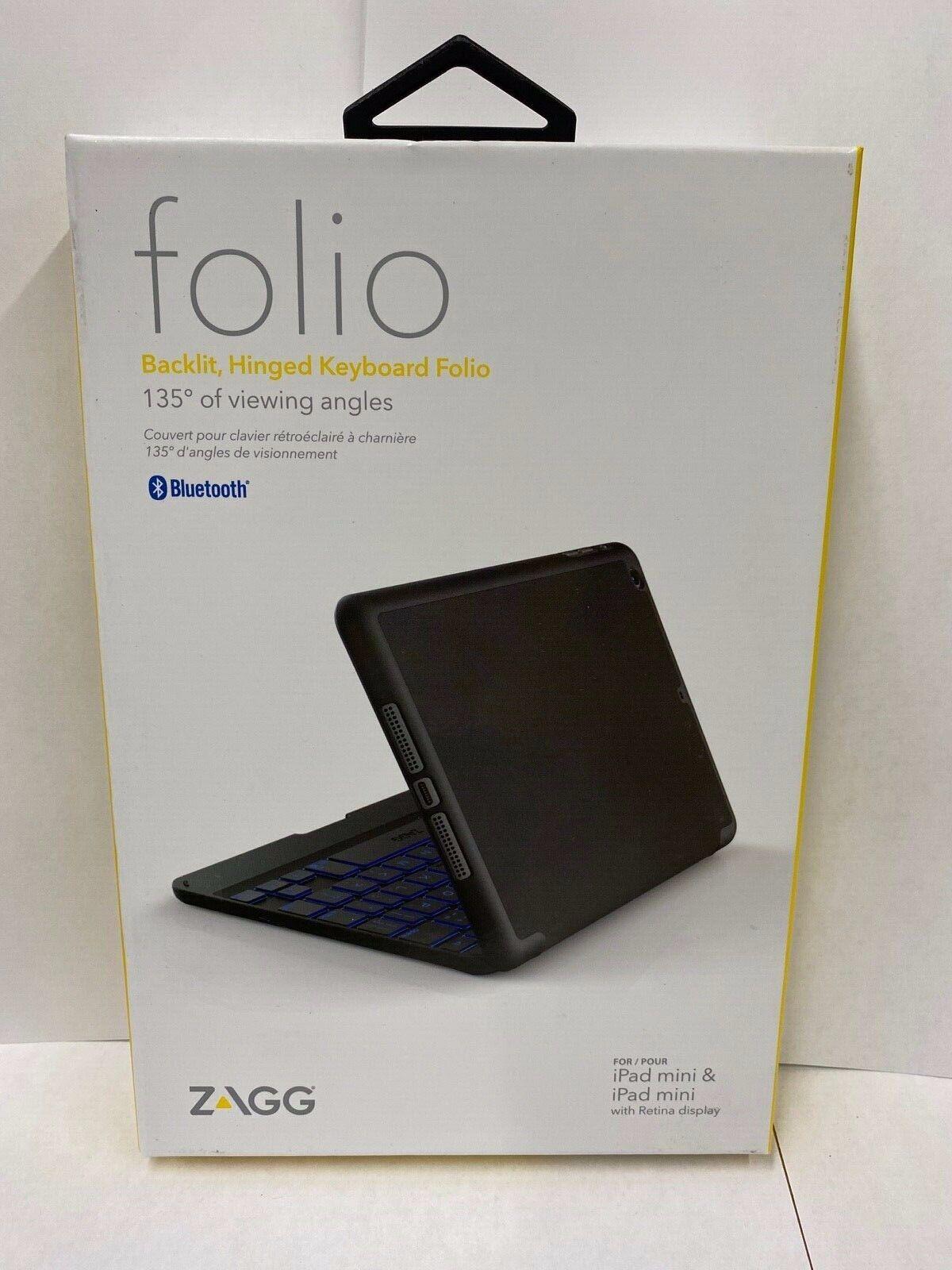 Zagg - Folio Case For Apple® Ipad® Mini 4 - Black