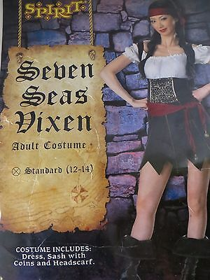 Seven Seas Vixen Pirate Women's Sz 12-14 complete Costume  (Pirate Vixen Costume)