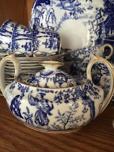 Royal Crown Derby Blue Mikado China set wedding gift