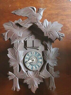 Antique Black Forest Cuckoo Clock Germany GM Angem E. Schmeckenbecher