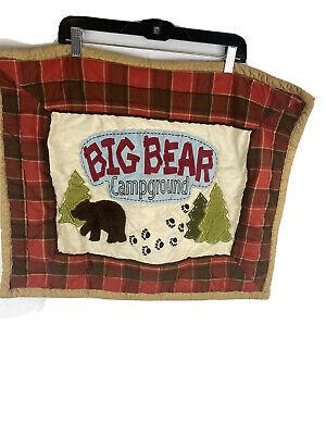 Woolrich Kids Big Bear Campground Standard Size Pillow Case Red Sham Plaid EUC