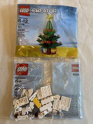 Lot of 2 NEW SEALED LEGO 30186 Creator Christmas Tree Holiday & 40208 SETS