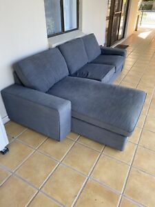 IKEA 3 Seater Sofa with Chase! - Kivik. Grey. Good condition