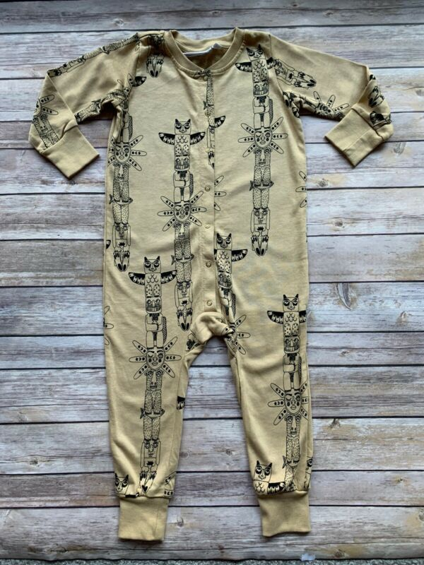 Mini Rodini Totem Bodysuit, Beige, 80-86 Cm