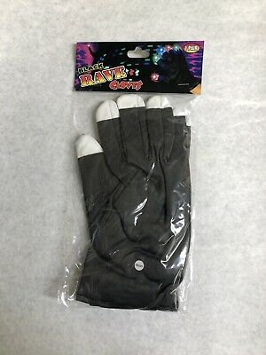 LED Rave Flashing Gloves Glow 7 Mode Light Up Finger Tip Lighting 1 Pair Black](Finger Light Gloves)