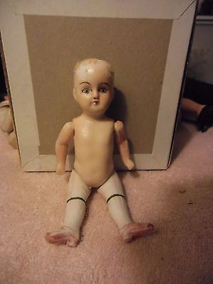 """Antique or vintage  5""""  possibly German all bisque doll"""