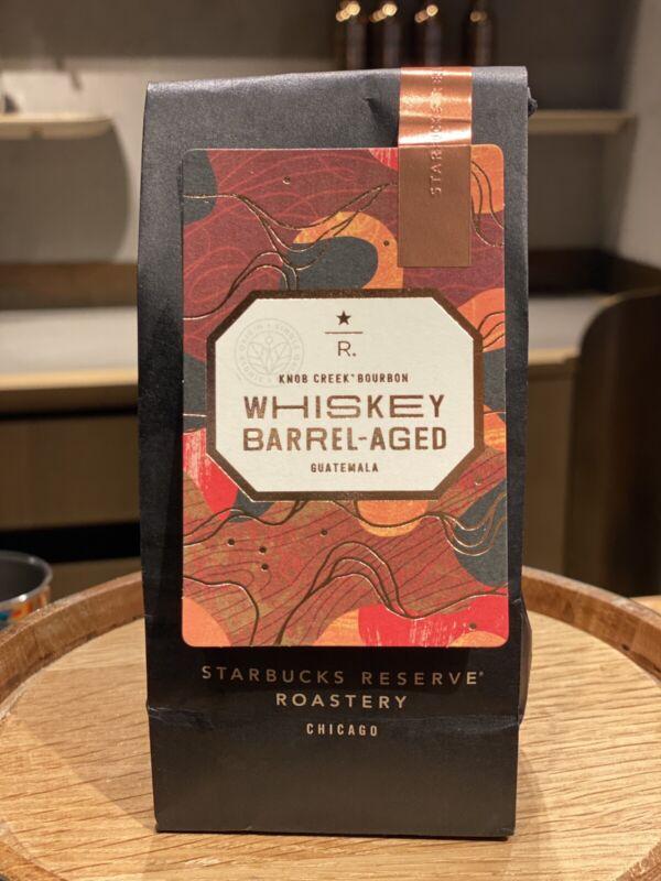 <NEW> STARBUCKS RESERVE KNOB CREEK BOURBON WHISKEY BARREL-AGED GUATEMALA COFFEE