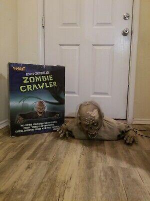 SUPER RARE Spirit Halloween Decoration Zombie Crawler Animatronic Prop W/ Box