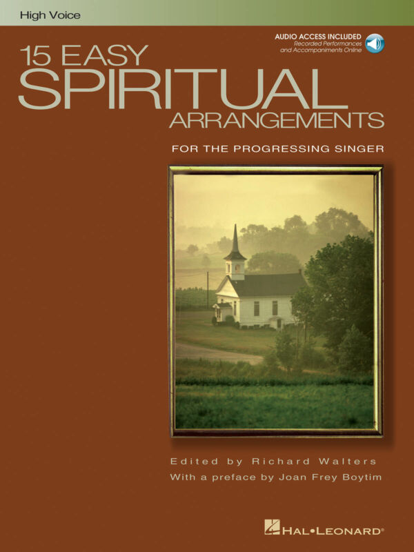 15 Easy Spiritual Arrangements High Voice & Piano Sheet Music Book Online Audio