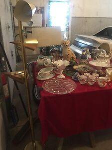Garage sale , vintage collectables, TV lamps, furniture,lots