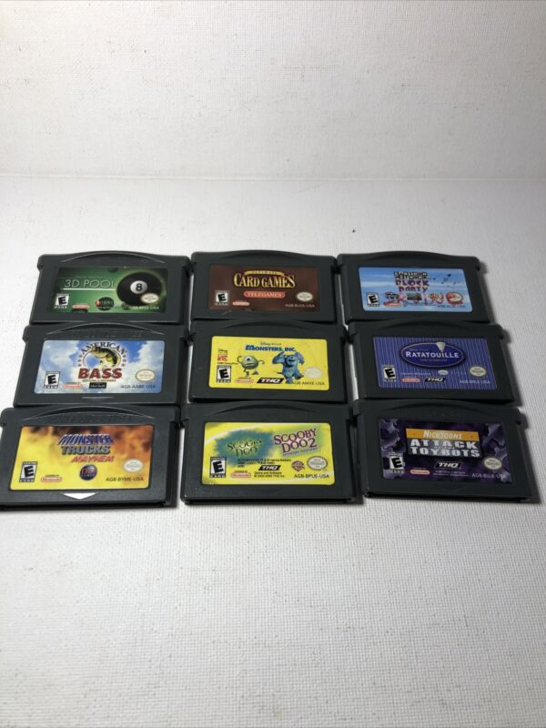 Lot Of 9 Nintendo Gameboy Advance GBA Games Tested