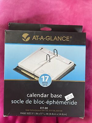 At-a-glance E17-00 Calendar Base Black For Planner Page Sz 3.5 X 5 17series