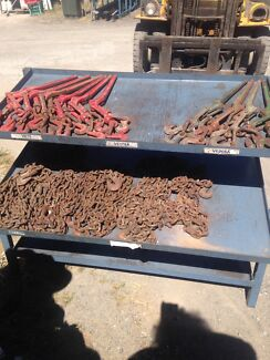 Dog and chain  tie downs , trucks , trailers,