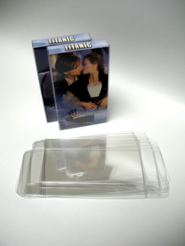 10 Clear VHS Movie Case Box Protectors - Custom Fit - Acid-Free!