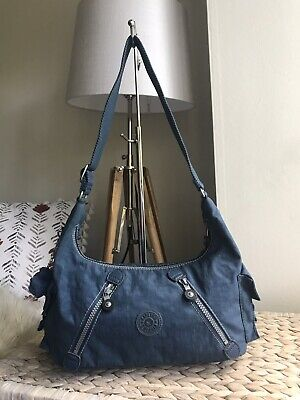 Kipling blue medium handbag shoulder hobo bag
