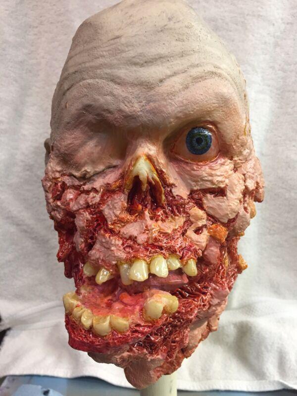 Halloween prop decoration Zombie Head Life Size